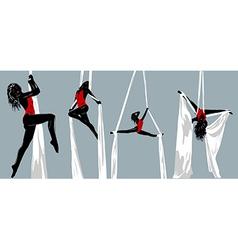 Woman gymnast vector image vector image