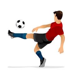football player kicks off vector image