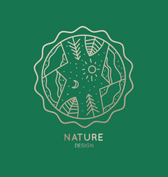 icon of nature vector image