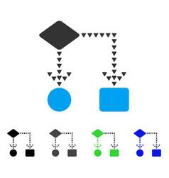 algorithm flowchart flat icon vector image