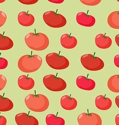 Background of red tomatoes seamless pattern of vector image