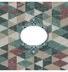 decorative frame on grunge background 1102 vector image vector image