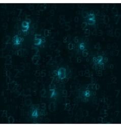 Digital code background vector image vector image