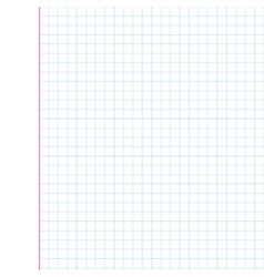 Exercise book in a cage Background for design vector image