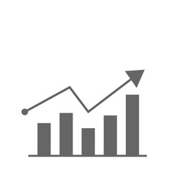 growth diagram icon flat design best icon vector image vector image