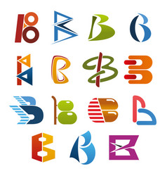 letter b icon for abstract business identity font vector image