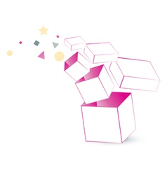 magic box packaging vector image