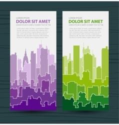 Rainbow urban vector image vector image