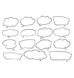 Various shapes of speech bubbles vector image vector image