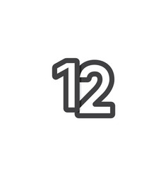 12 years anniversary celebrations template design vector