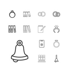 13 ring icons vector