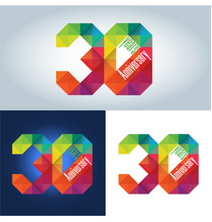 30th anniversary logo vector