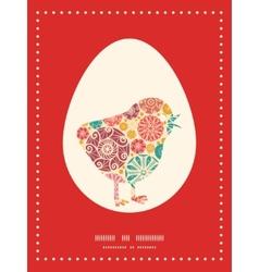 Abstract decorative circles chicken vector