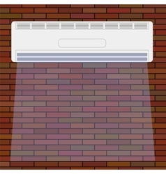 Air Conditioner on the Red Brick Wall vector