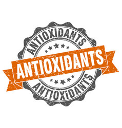 Antioxidants stamp sign seal vector