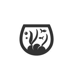 Aquarium icon isolated on a white background vector image