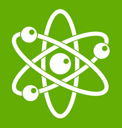 atom with electrons icon green vector image
