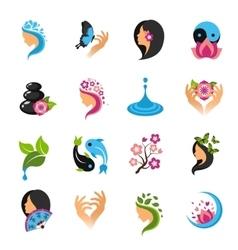 Beauty Icons Set vector