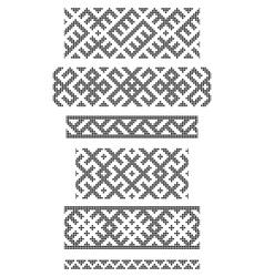 Borders embroidery cross vector