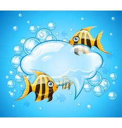 Bubbles cloud in aquarium vector image