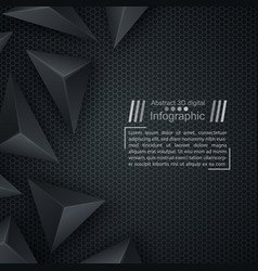 business paper template - origami background vector image