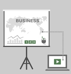 Business presentation in office vector
