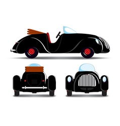 Cartoon black car vector image