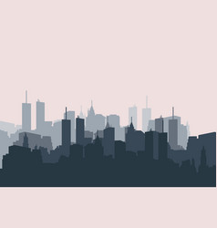 city landscape sihouette building town isolated vector image