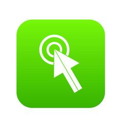 click icon digital green vector image