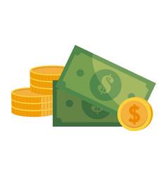 Coins and bills design vector