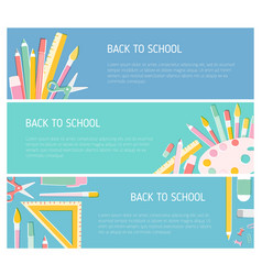 collection colorful horizontal web banner vector image