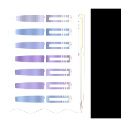 Colored pen vector image