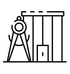 compass measure building icon outline style vector image