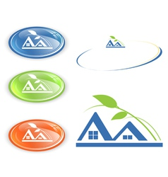 cottage or camping emblem vector image vector image
