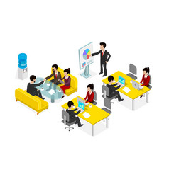 coworking office people business man vector image