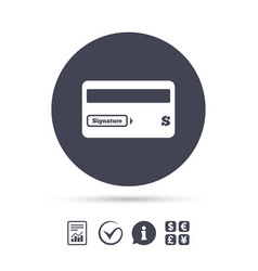 credit card sign icon debit card symbol vector image