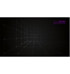 cube icon dark creative background vector image