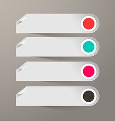 Empty Paper Labels Set vector image