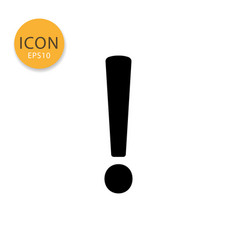 Exclamation mark icon isolated flat style vector