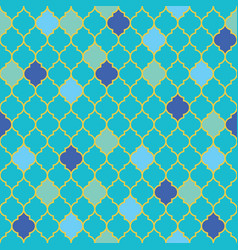 Flat moroccan seamless pattern vector