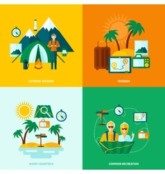 Flat Tourist Set vector