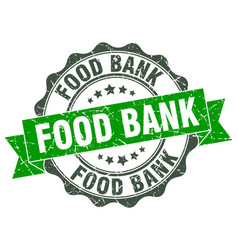 Food bank stamp sign seal vector