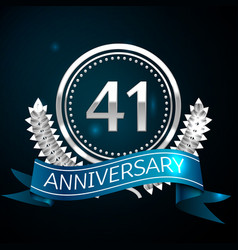 forty one years anniversary celebration design vector image
