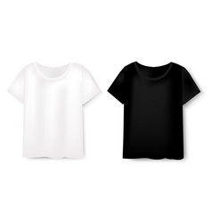 front views of t-shirt set on white background vector image