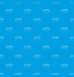 fruit salat pattern seamless blue vector image