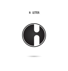 H-letter abstract logo vector