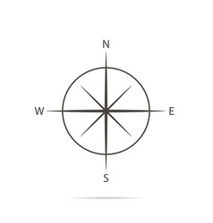 icon compass on white background and flat design vector image