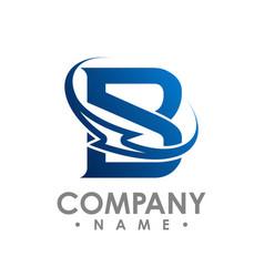 Initial letter b concept bolt logo on white vector