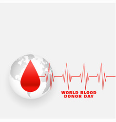 International world blood donor day poster design vector