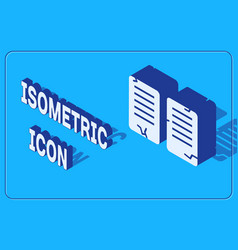 Isometric the commandments icon isolated on blue vector